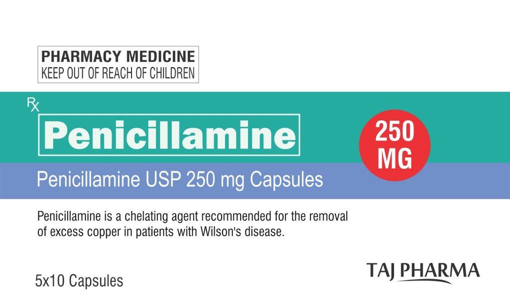 penicillamine 250 mg capsules (11)