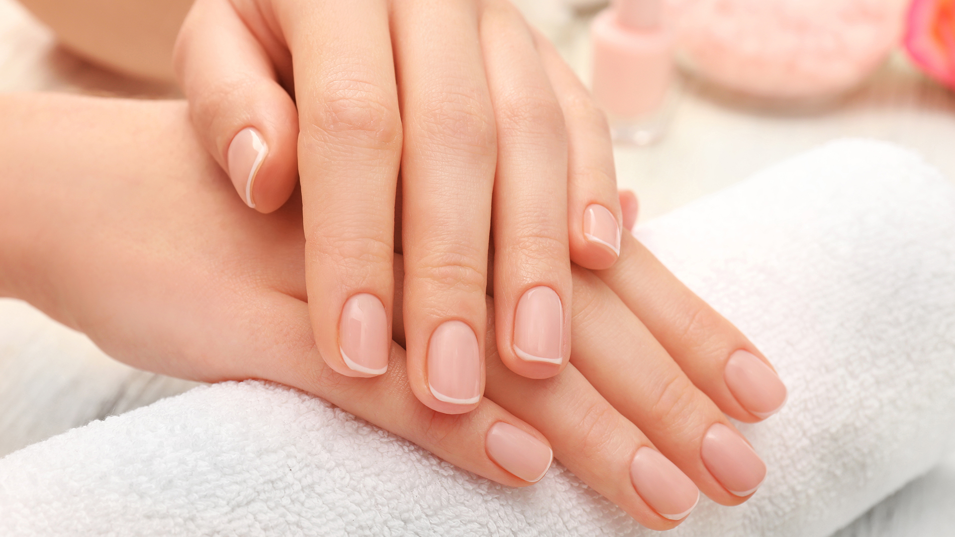 Black Skin Natural Pink Nail Bed
