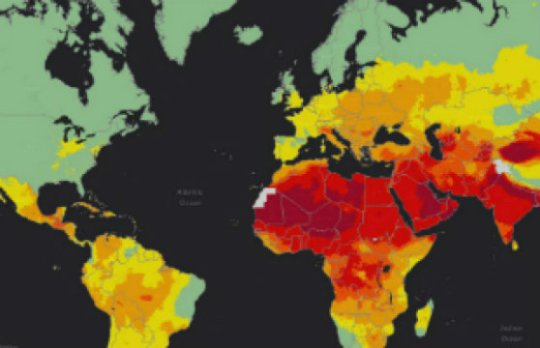 WHO heat map shows the highest (red) and lowest (green) levels of air pollution worldwide-virtualdr.ir