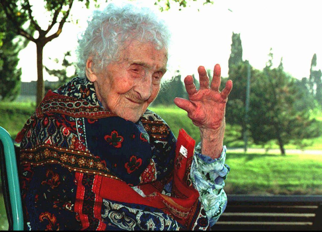 ژان کالمنت، مسنترین انسان دنیا در سال ۱۹۹۵، دو سال پیش از مرگش.