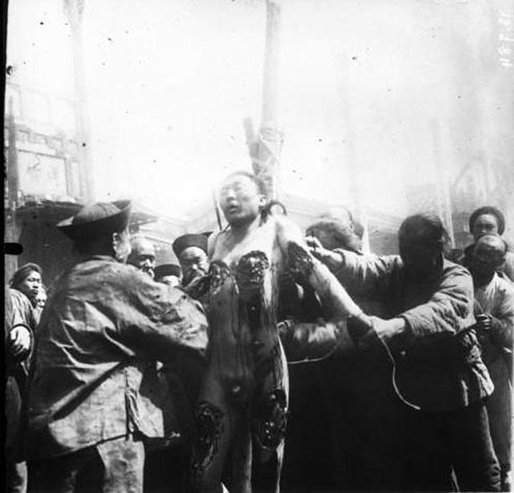 مراسم اجرای حکم فو چو لی در آوریل ۱۹۰۵.