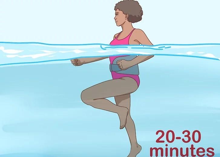 ورزش در آب برای لاغری شکم