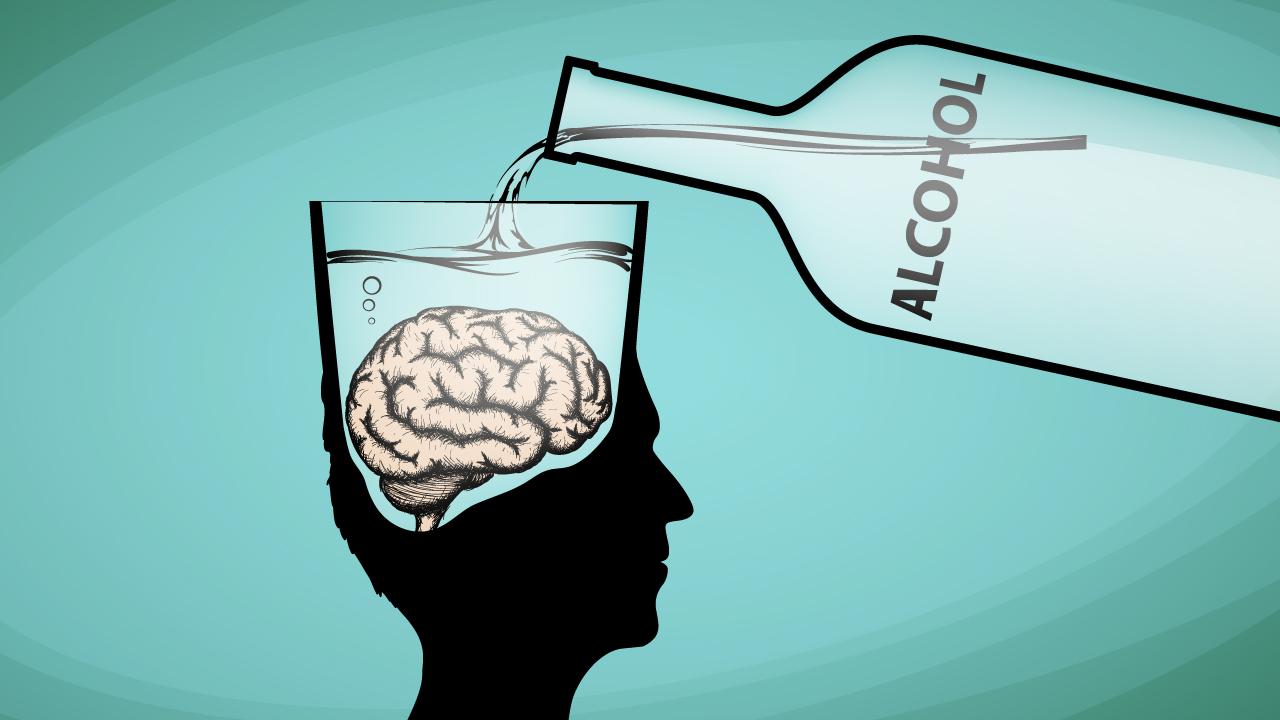 نتیجه تصویری برای اثرات الکل بر مغز