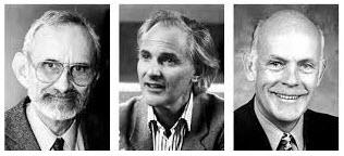 باکی بال از راست به چپ: ریچارد اسمایلی، هارولد کروتو، و رابرت کورل